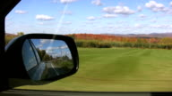 Gorgeous fall drive. video