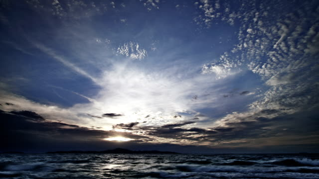 Gorgeous sky and sea video