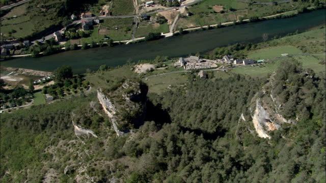 Gorges Du Tarn And Les Vignes  - Aerial View - Languedoc-Roussillon, Lozère, Arrondissement de Florac, France video