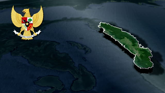 Gorontalo with Coat Of Arms Animation Map video
