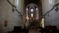 Gothic Monastery indoors background video