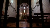 Gothic Monastery indoors background video