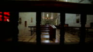 Gothic temple. Indoors video