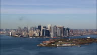 Governor's Island  - Aerial View - New York,  New York County,  United States video