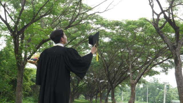 Graduates Throwing Graduation Cap video