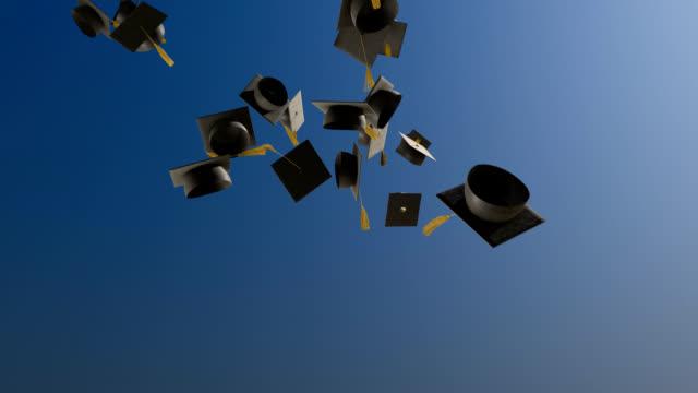 Graduation Caps Slow Motion video