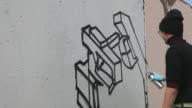 Graffiti artist (HD) video