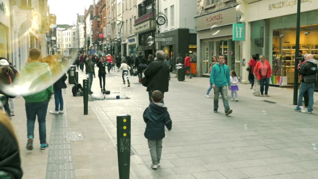Grafton Street, Dublin, Ireland video