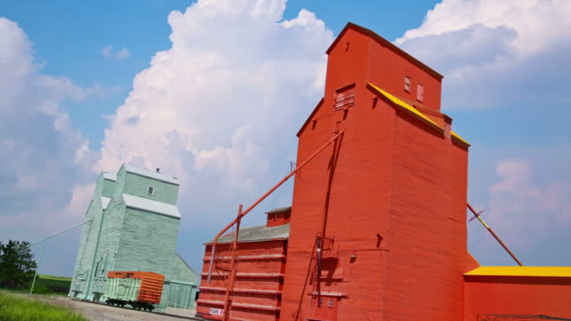 Grain Elevators on the Prairies video