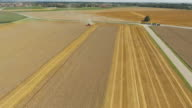 Grain Harvest In Lower Bavaria Flyover video