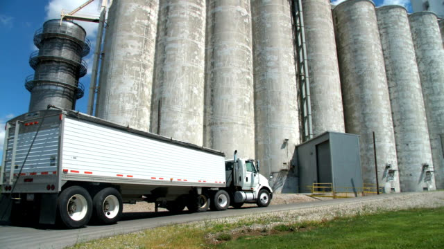 Grain Silo and Truck 1 HD/SD video
