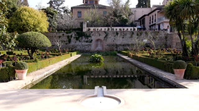 Granada Alhambra gardens video