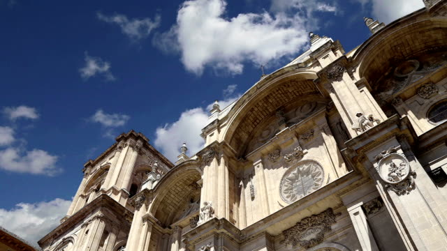 Granada Cathedral (Cathedral of the Incarnation) in gothic and spanish renaissance style, Andalucia, Spain video