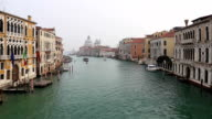 Grand Canal and Santa Maria della Salute in Venice , Italy video