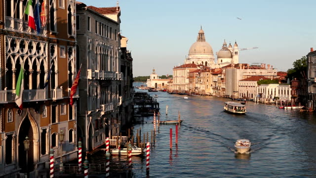 Grand Canal and Santa Maria Della Salute, Venice, Italy video