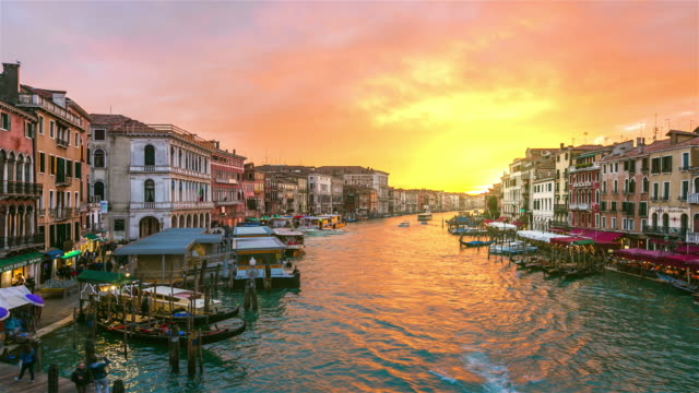 Grand Canal in Venice, Italy at sunset video