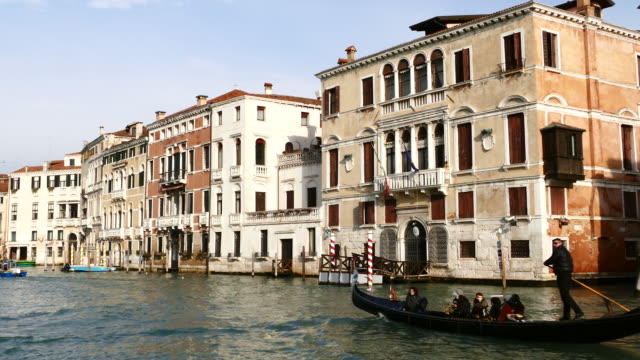 4K Grand canal in Venice, Italy video