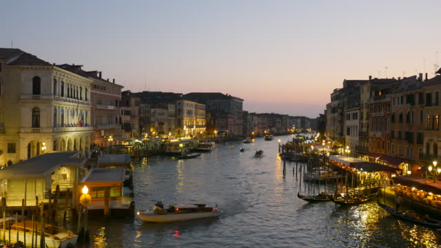 Grand Canal Venice at Dusk video