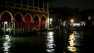 Grand Canal Venice by night video