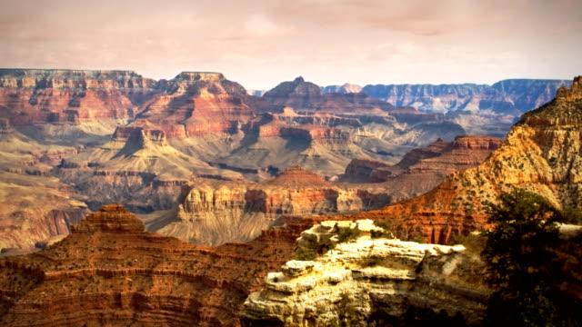 Grand Canyon Arizona Sunset Landscape Storm Clouds Timelapse video