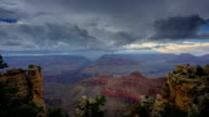 Grand Canyon on a stormy day video