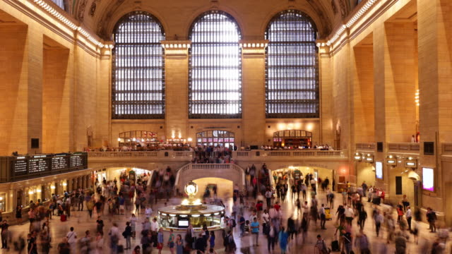 grand central building rush hour 4k time lapse from nyc video