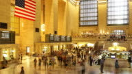 grand central building rush time 4k time lapse from new york video