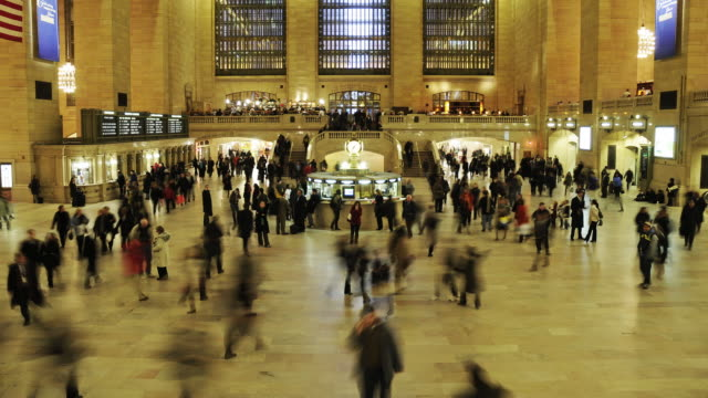 Grand Central Station - Busy with commuters video