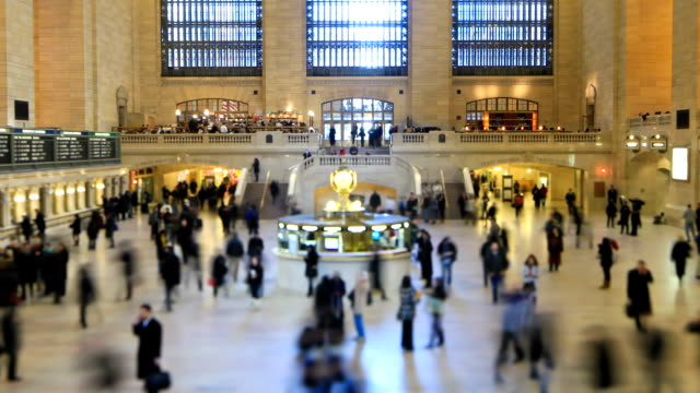 Grand Central Station Time Lapse Tilt Shift video