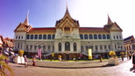 Grand Palace in Bangkok against clear blue sky video
