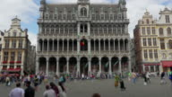 Grand place, Brussels old city Square video