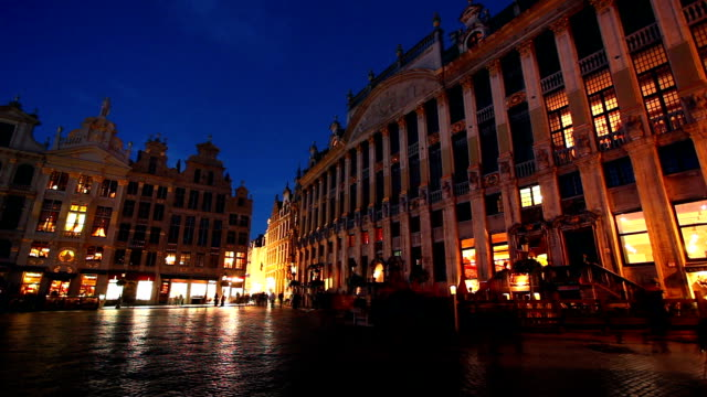 Grand Place from Brussels, time lapse video