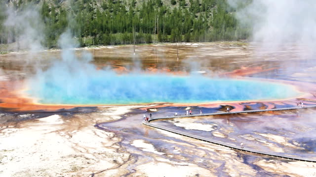 Grand Prismatic Spring video