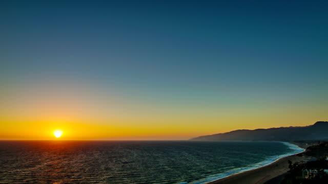 Grand sunset over California video