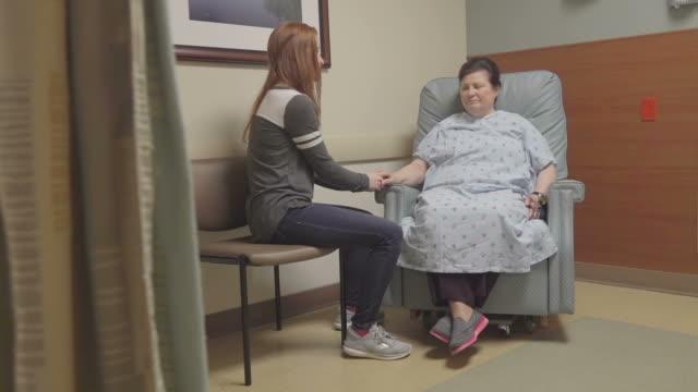 Granddaughter Visiting Grandmother In Hospital video
