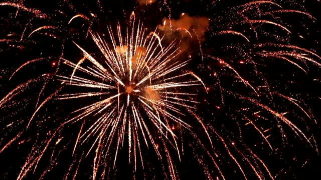 Grandiose celebratory fireworks in the night sky. video