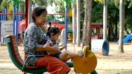 grandmother and child exercising video