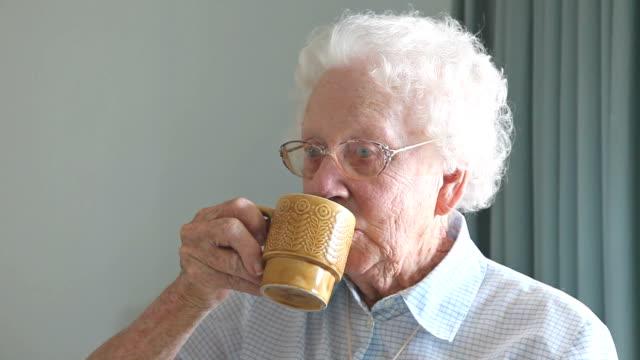 Grandmother Drinking Tea video