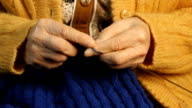 Grandmother hands knit video