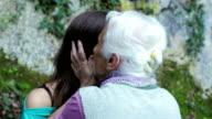Grandmother kiss her granddaughter video