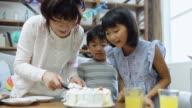 Grandmother Serving Birthday Cake video