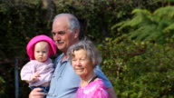 Grandparents Walk with Granddaughter video