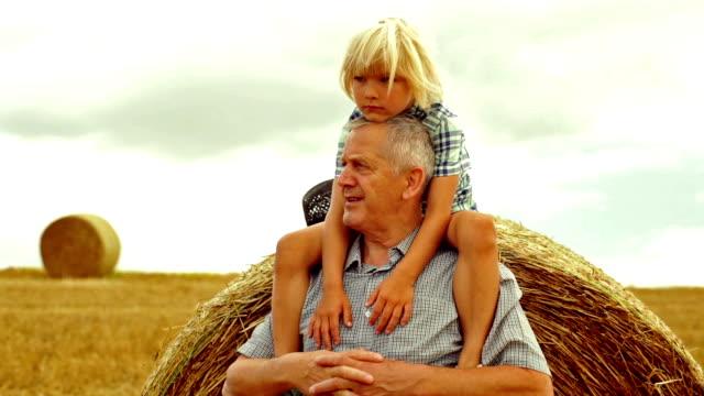 Grandson grandfather piggyback video