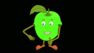 Granny Smith Apple-Transparent/Alpha video