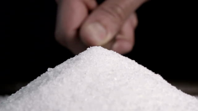 Granulated Sugar Falling In Slow Motion video