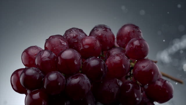 grape and water splash, Slow Motion video