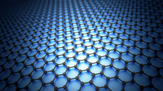 Graphene sheet model hexagonal loopable video