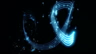 Graphic Blue Musical Notes Animations video