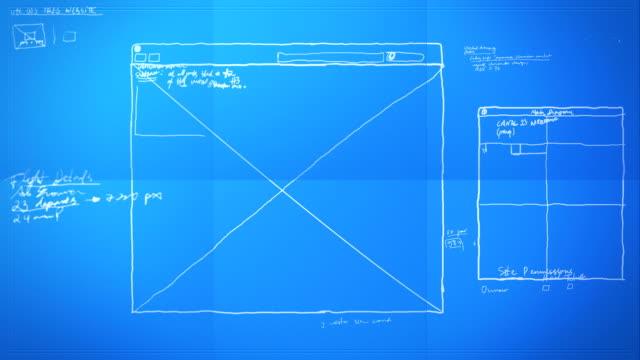 Graphic Design Layout Process Time Lapse Blueprint HD, SD video