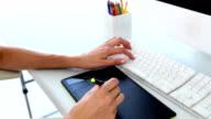 Graphic designer using digitizer video